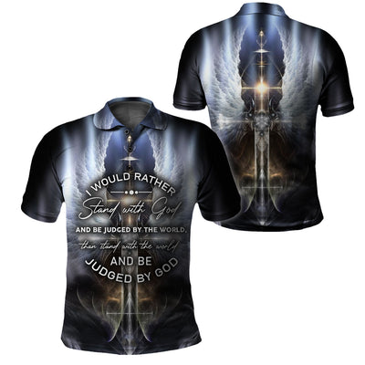 3D Print Full Christian Clothing - I would rather stand with God - GnWarriors Clothing