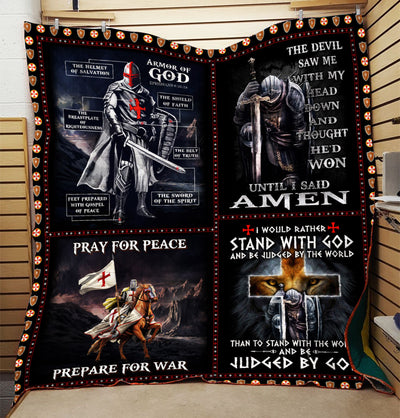 Trending Christian Quilt Collection - The Armor Of God Quilt ql-hg54 - GnWarriors Clothing