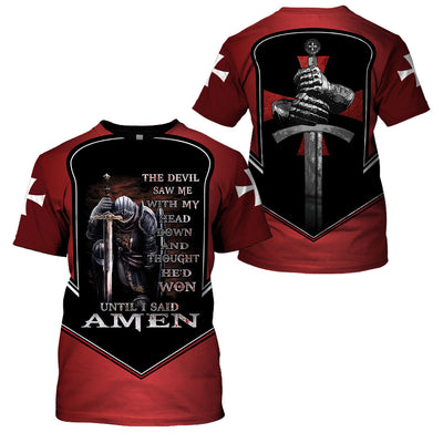 Best selling 3d apparel Knights Templar - The devil saw me with my head down
