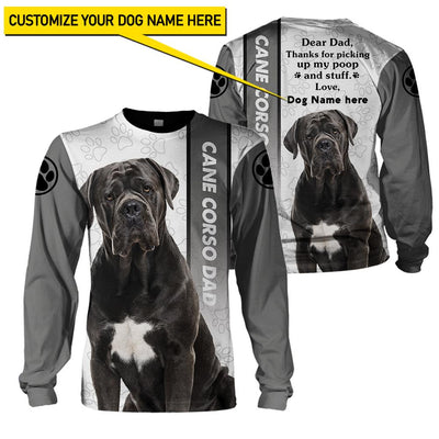 Best selling 3d apparel - Best dog dad customizable - 1
