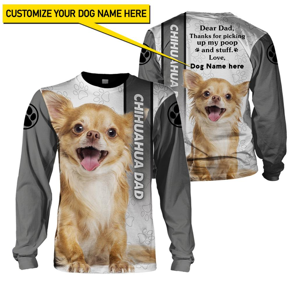 Best selling 3d apparel - Best dog dad customizable - 2