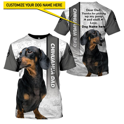 Best selling 3d apparel - Best dog dad customizable - 3
