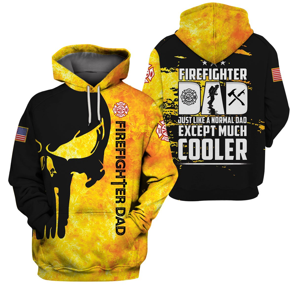 Best selling 3d apparel - Customizable - The Firefighter Dad