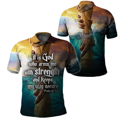 Best selling 3d apparel - Christian - God keeps my way secure