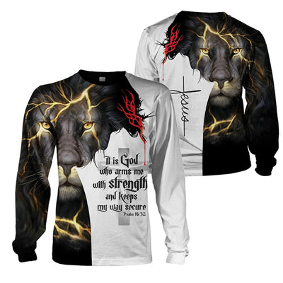Best selling 3d apparel - Christian - God keeps my way secure 2