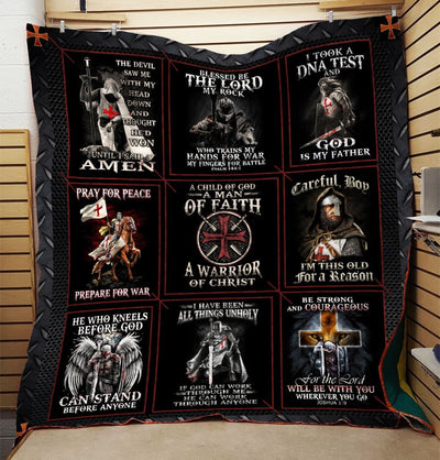 Trending Christian Quilt Collection - A Child Of God A Man Of Faith Quilt ql-hg61 - GnWarriors Clothing