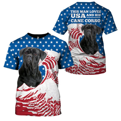 Limited Edition 3d apparel - US Flag dog 20