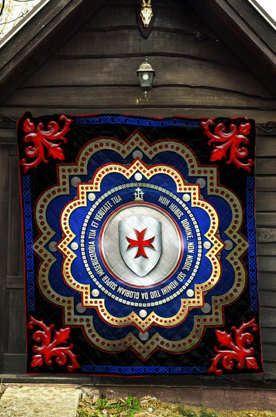 Trending Christian Quilt Collection - The Knights Templar 3d Seal Quilt ql-hg65 - GnWarriors Clothing