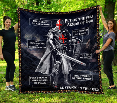 Trending Christian Quilt Collection - Put On The Whole Armor Of God Quilt ql-hg66 - GnWarriors Clothing