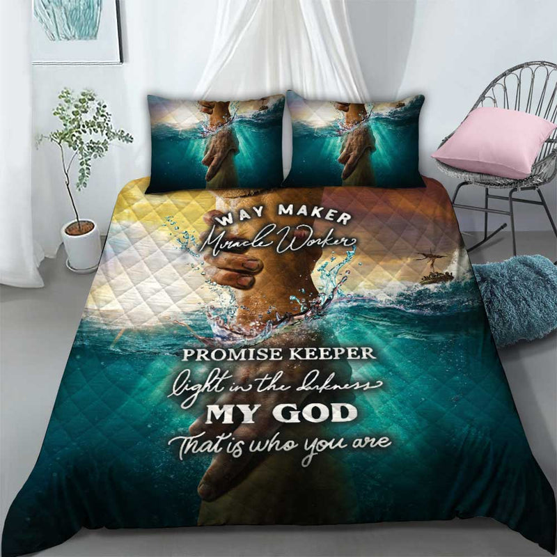 Way Maker Miracle worker promise keeper Bedding set