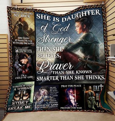 Trending Christian Quilt Collection - She Is The Daughter Of The King Quilt ql-hg69 - GnWarriors Clothing