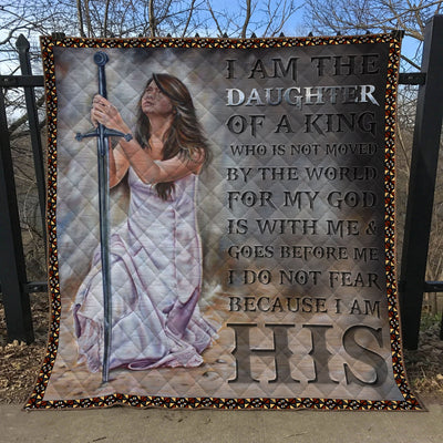 Trending Christian Quilt Collection - I Am The Daughter Of The King Quilt ql-hg75 - GnWarriors Clothing
