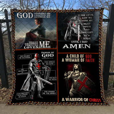 Trending Christian Quilt Collection - Christian Warrior Quilt ql-hg78 - GnWarriors Clothing