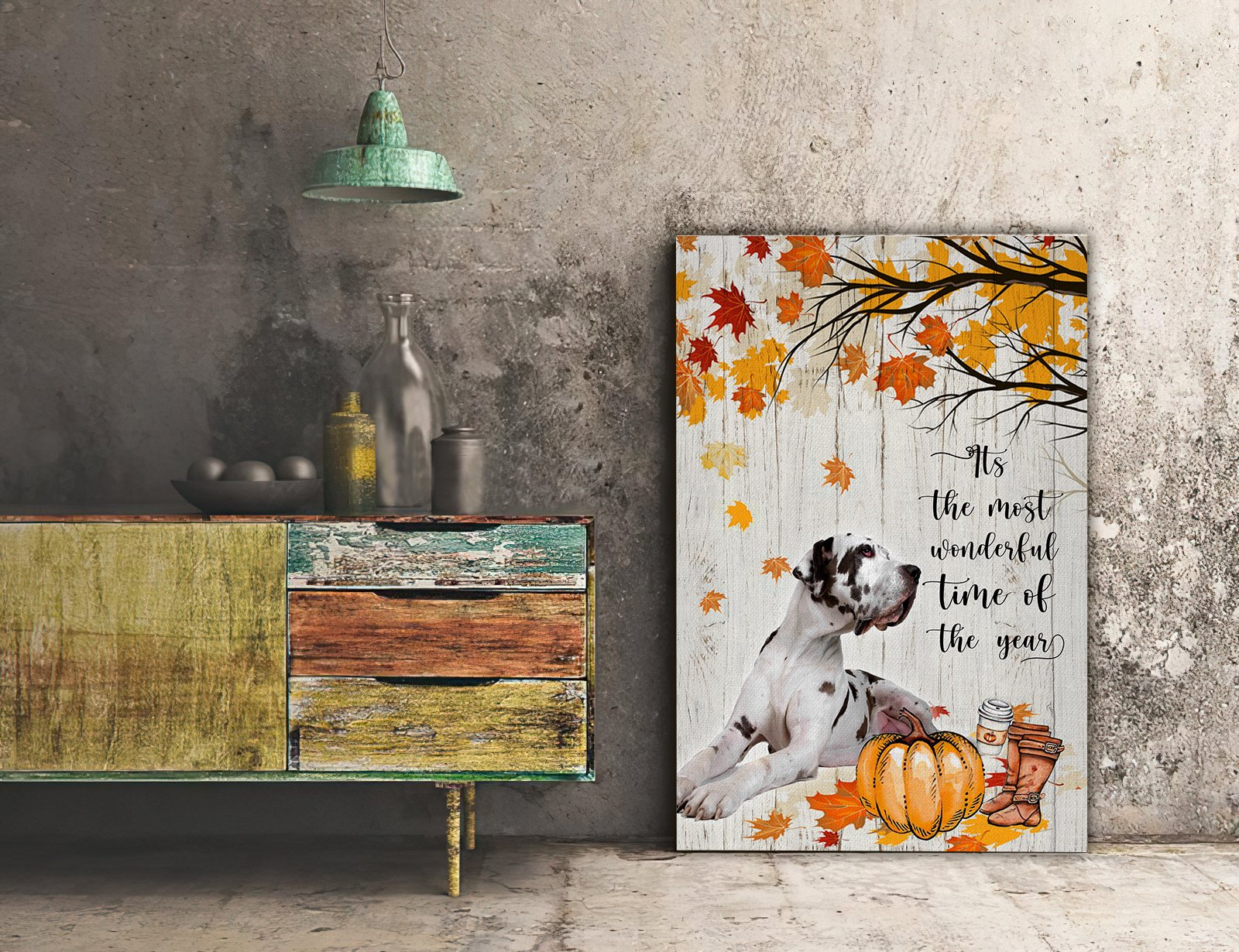 3D Canvas - It's The Most Wonderful Time Of The Year- Great Dane