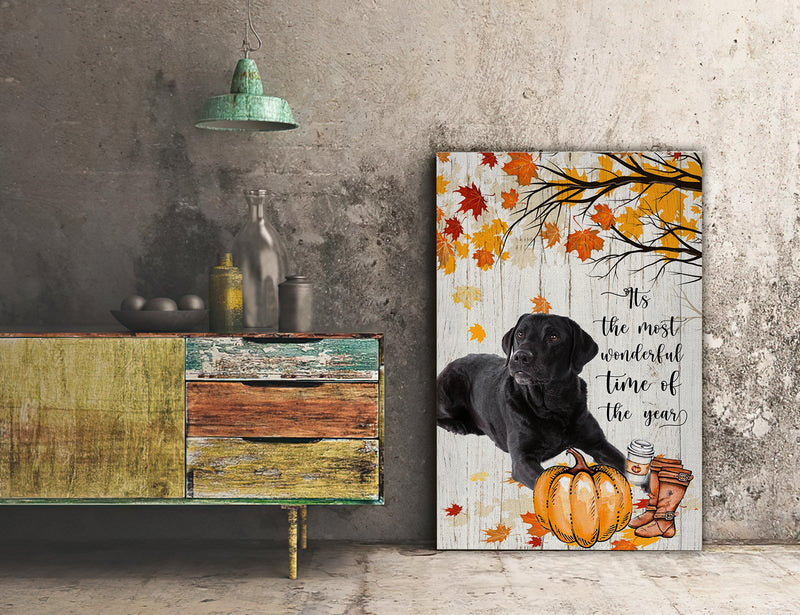 3D Canvas - It's The Most Wonderful Time Of The Year- Labrador