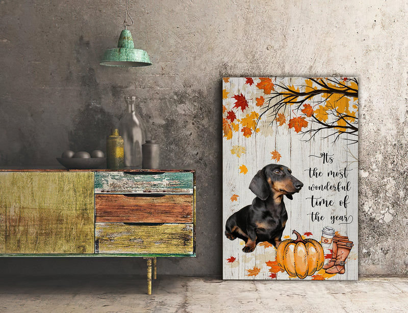 3D Canvas - It's The Most Wonderful Time Of The Year- Dachshund