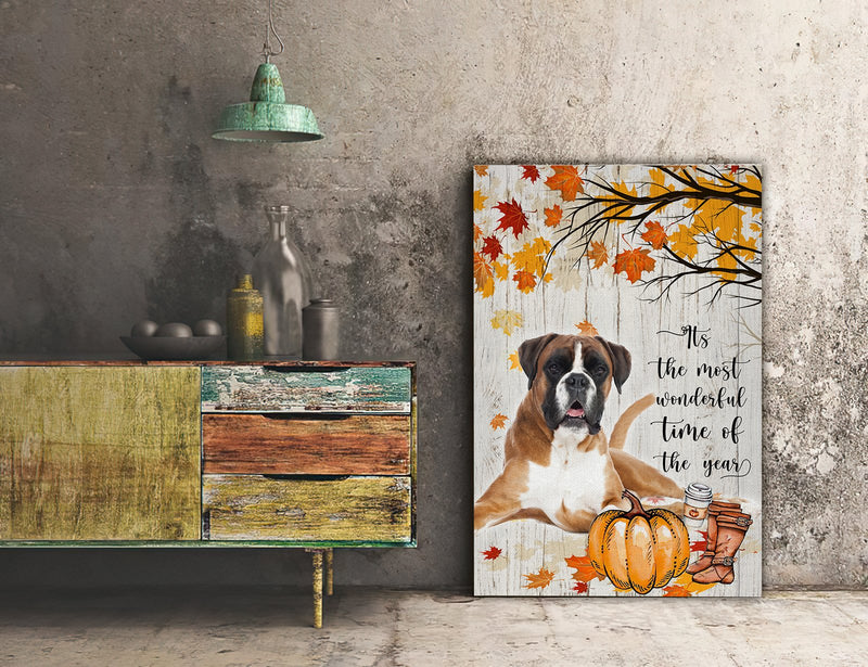 3D Canvas - It's The Most Wonderful Time Of The Year- Boxer