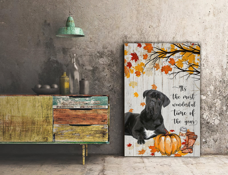 3D Canvas - It's The Most Wonderful Time Of The Year- Cane corso