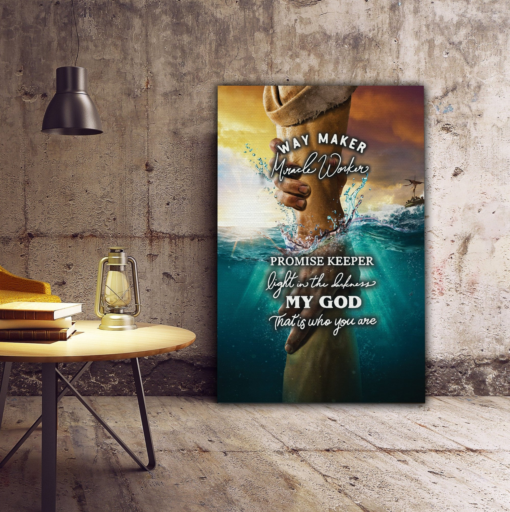 3D Canvas, Poster - Way Maker Miracle Worker - 4zOutfitters Merchandise
