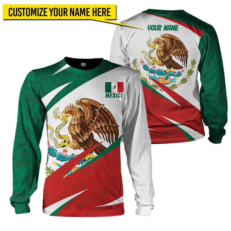 Mexico Unisex Clothing with Customizable Name - 3D Full Printing - 4zOutfitters Merchandise
