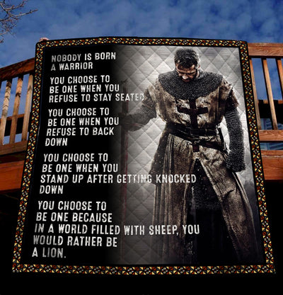 Trending Christian Quilt Collection - No Body Is Born A Warrior Quilt ql-hg82 - GnWarriors Clothing