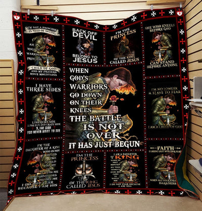 Trending Christian Quilt Collection - The Battle Is Not Over Quilt ql-hg84 - GnWarriors Clothing