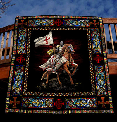 Trending Christian Quilt Collection - Knight Templar Quilt ql-hg91 - GnWarriors Clothing