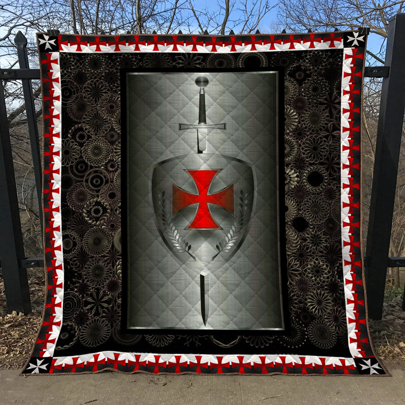 Trending Christian Quilt Collection - Knights Templar Quilt ql-hg92 - GnWarriors Clothing