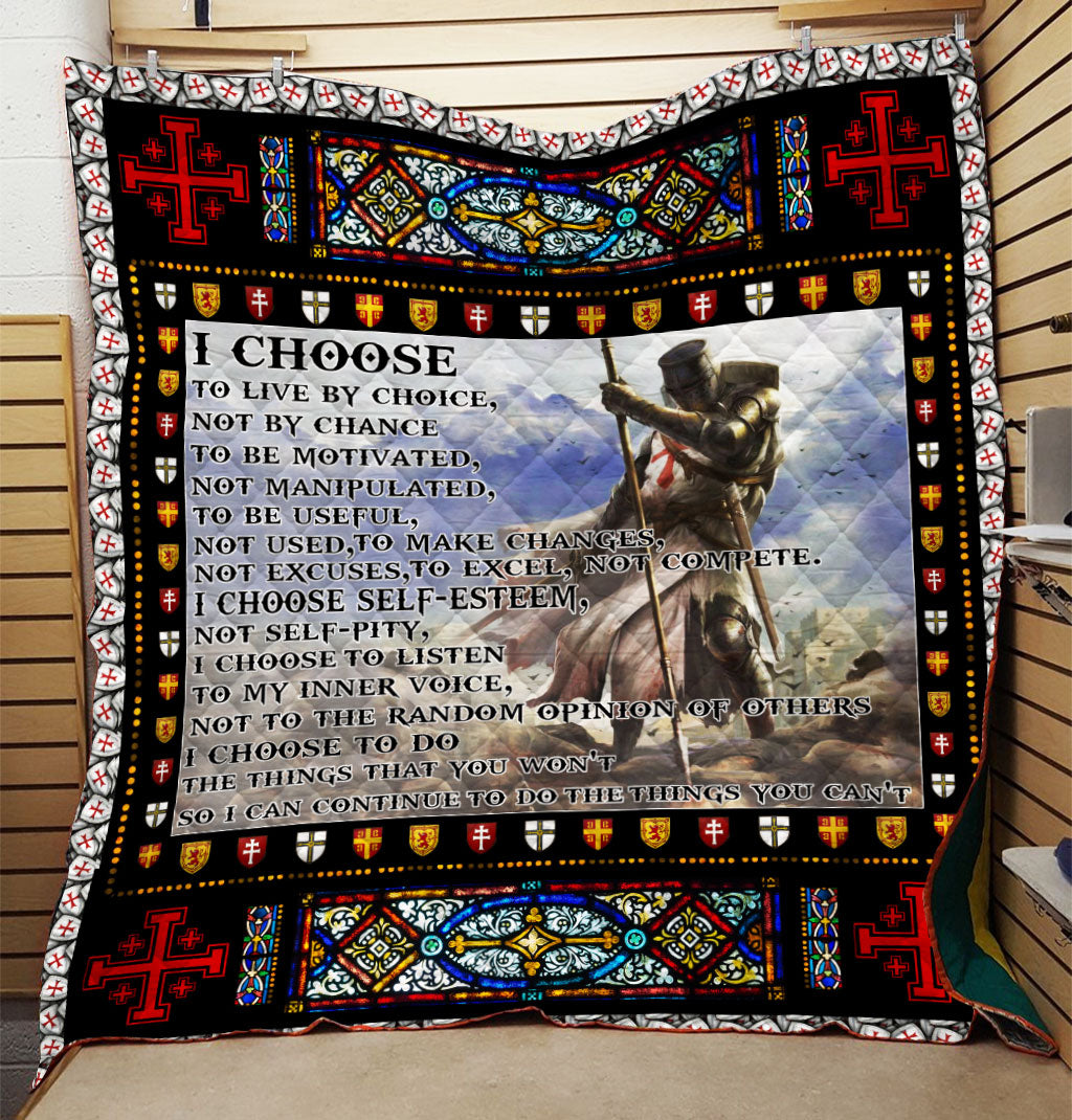 Trending Christian Quilt Collection - I Choose To Live By Choice Quilt ql-hg93 - GnWarriors Clothing
