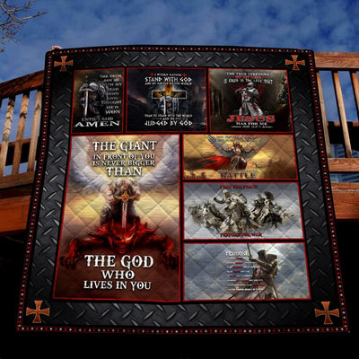 Trending Christian Quilt Collection - The God Who Lives In You Quilt ql-hg94 - GnWarriors Clothing