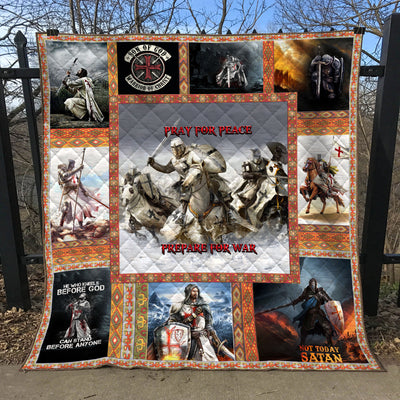 Trending Christian Quilt Collection - Pray For Peace Prepare For War Quilt ql-hg96 - GnWarriors Clothing