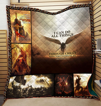 Trending Christian Quilt Collection - I Can Do All Things Through Christ Who Strengthens Me Quilt ql-hg98 - GnWarriors Clothing