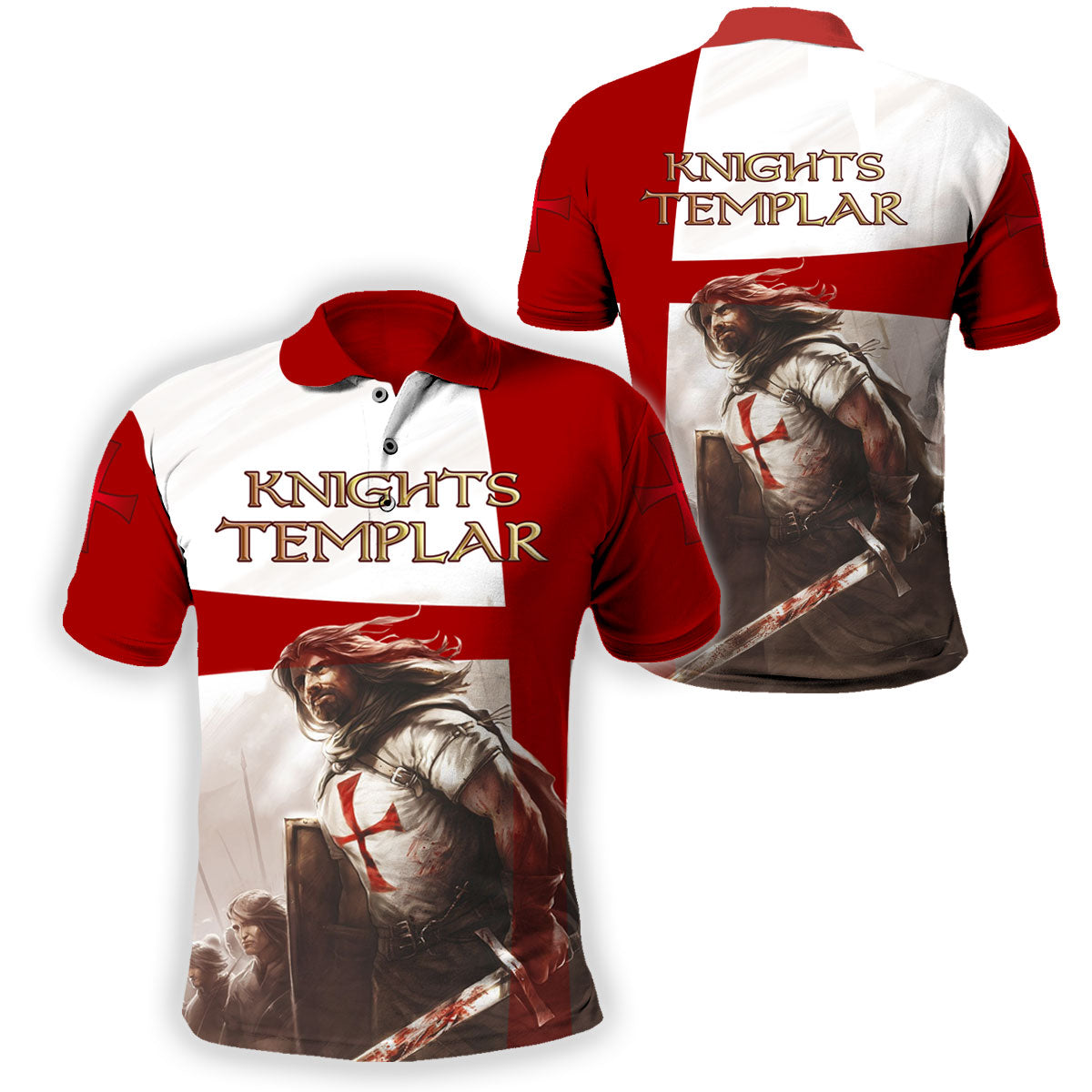 3D Knight Hoodie - Knight Templar Warrior Apparel - New Design - GnWarriors Clothing