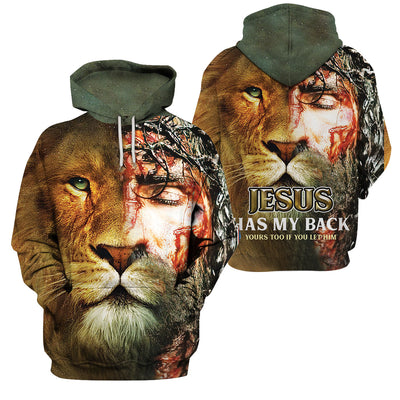 Best selling 3d apparel 2Christian - Jesus Has my back