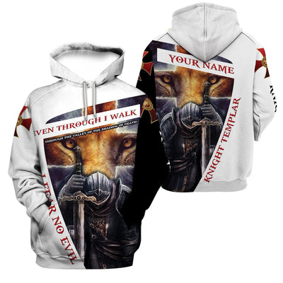 Best selling 3d apparel - Knights Templar - I Fear no evil