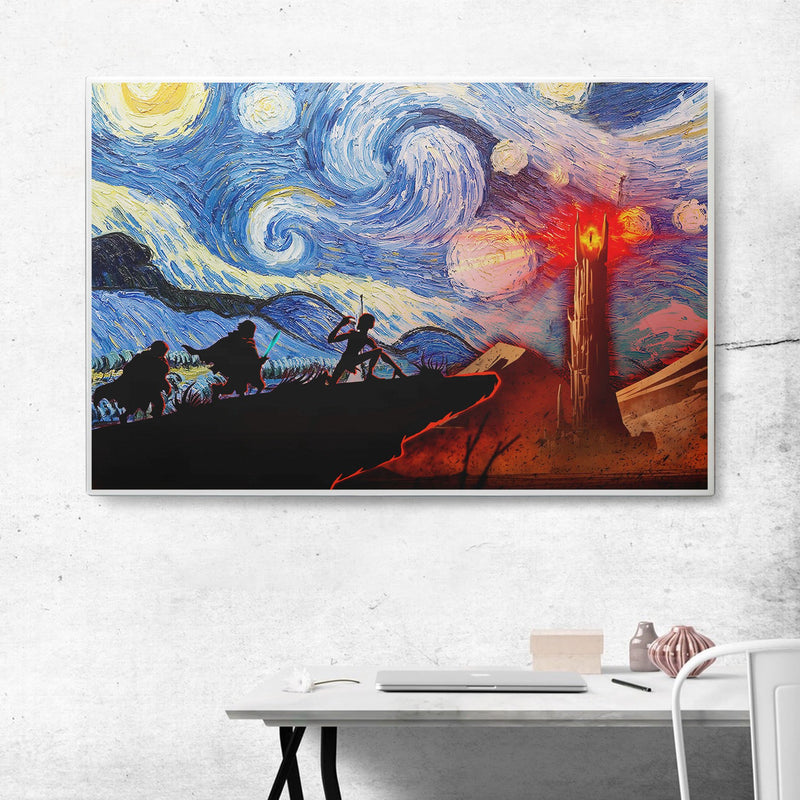 3D Canvas - Starry night - To Mordor