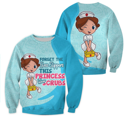 Nurse Clothing - All Over 3D Printed - Princess Wear Scrubs - GnWarriors Clothing