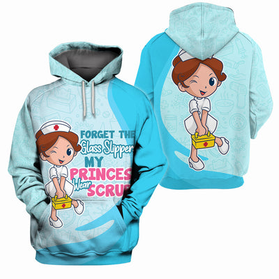 Nurse Clothing - All Over 3D Printed - Forget The Glass Slippers My Princess Wear Scrubs - GnWarriors Clothing