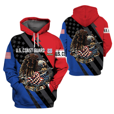 U.S Coast Guard Clothing- 3D Printed New Design - GnWarriors Clothing