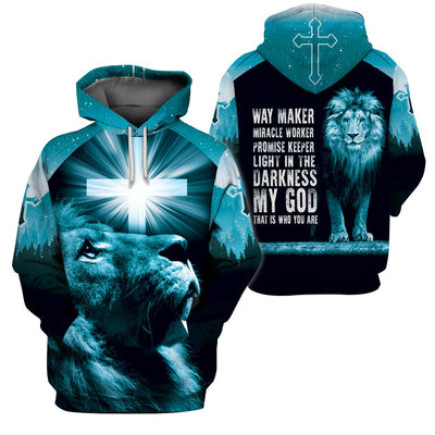 3D Christian Hoodie, Polo, T-shirt- Way maker miracle worker promise keeper - GnWarriors Clothing