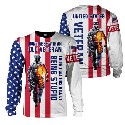 3d America Apparel - Veteran - I Didn't Get This Title By Being Stupid