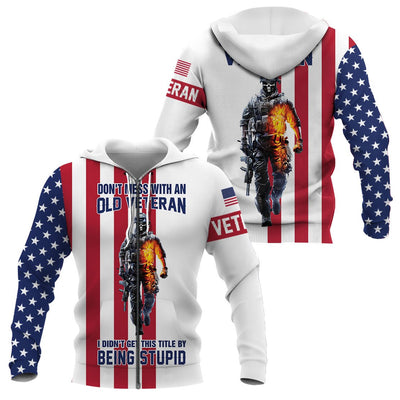3d America Apparel - Veteran - Don't Mess With An Old Veteran