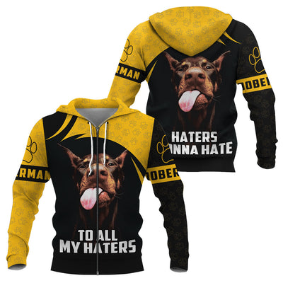 3D Apparel - To all my haters - Doberman
