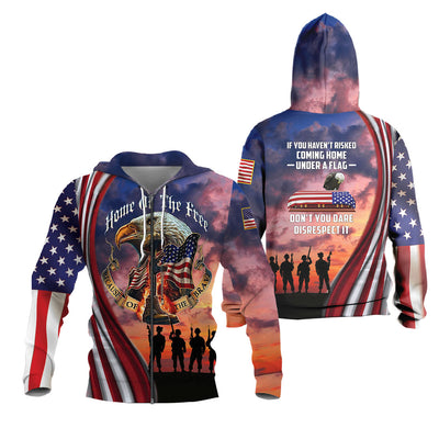 3d Apparel - US Veteran - Risked coming home under a flag
