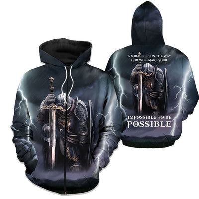 Epic 3D Christian Apparel - Impossible To Be Possible - GnWarriors Clothing