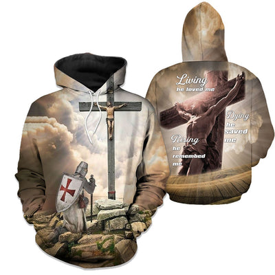 Epic 3D Christian Apparel - God Is Always Beside Your Life - GnWarriors Clothing