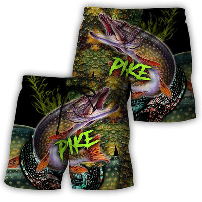 Northern Pike Fishing on skin 3D all over printing shirts for men and women TR070102