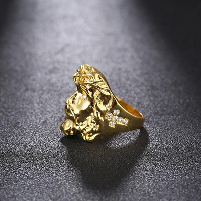 24K Gold Jesus Ring - GnWarriors Clothing
