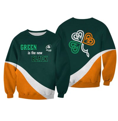 Ireland Shamrock Celtic Zipper Hoodie Tshirt Apparel - GnWarriors Clothing