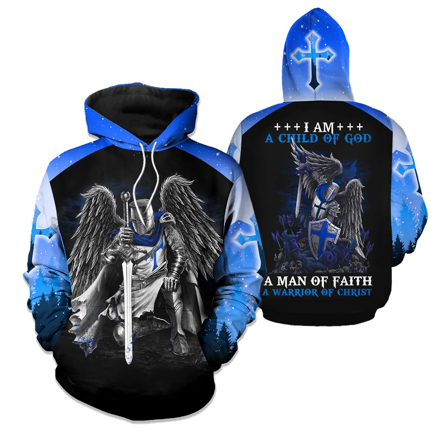 Epic 3D Jesus Apparel - I Am A Child Of God - GnWarriors Clothing